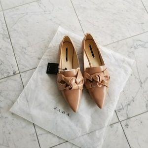 NWT Zara Bow Flats