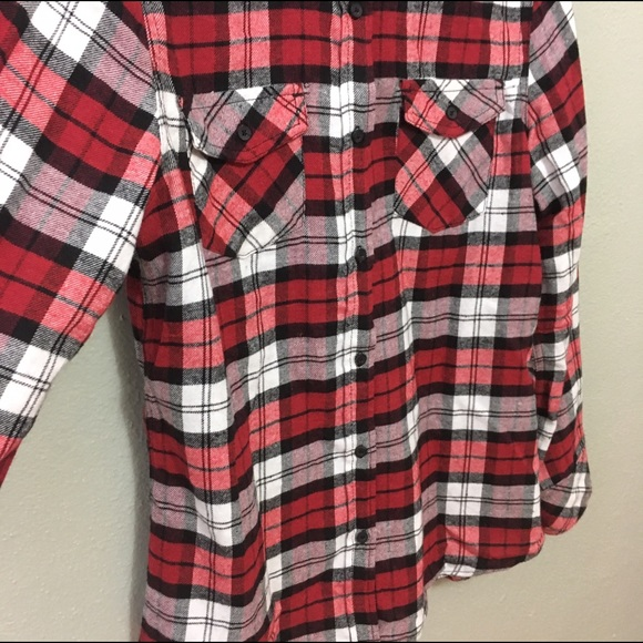 51 off ci sono tops flannel warm shirt with elbow for Mens flannel shirt with elbow patches