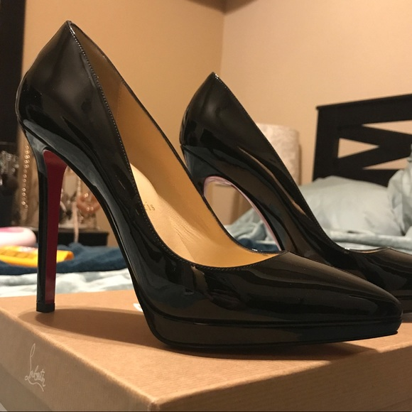 63eaca8fb803 Christian Louboutin Pigalle Plato 120 Patent Calf