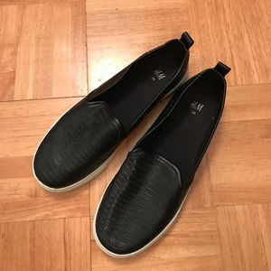 H&M faux leather slip ons!