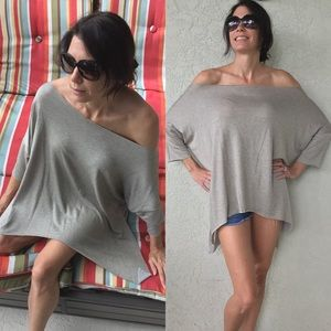 Taupe Off the Shoulder Tunic