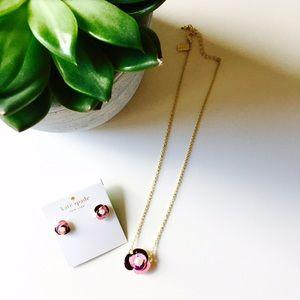Kate Spade enamel flower necklace
