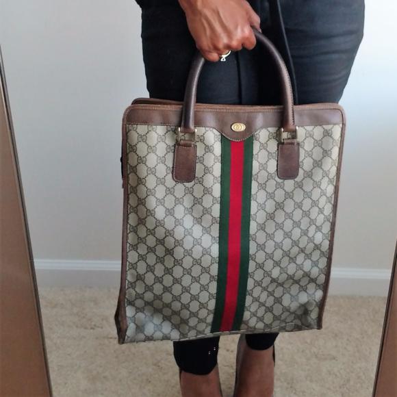 5e4cc9ccff6 Gucci Handbags - Large 70s-80s Vintage Authentic Gucci Tote Handbag