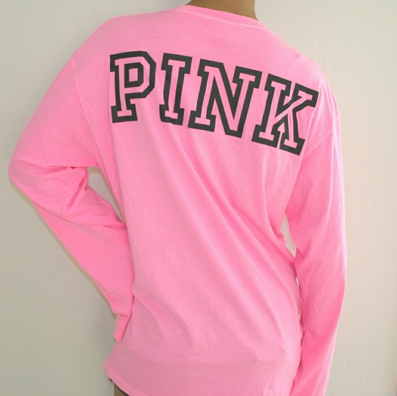 Victorias Secret Pink Long-Sleeve Campus Tee