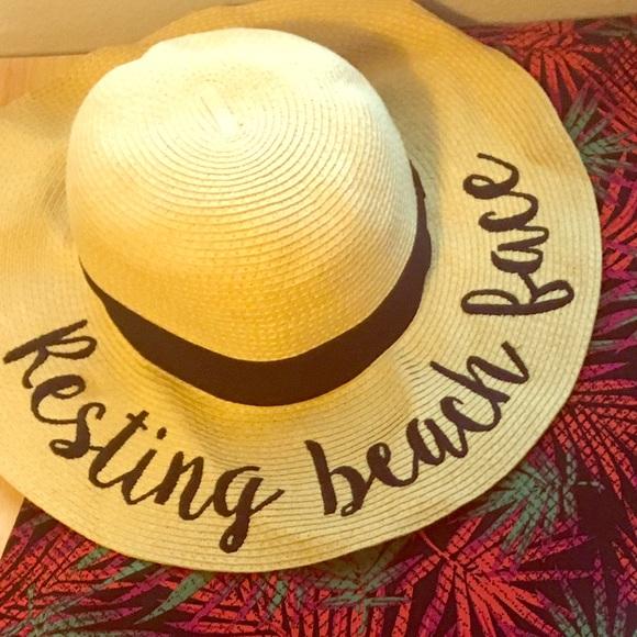 Resting Beach Face Floppy Hat c752429da8d