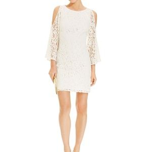 Adrianna Papell cold shoulder lace dress