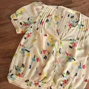 Pins and Needles Sheer Floral Blouse