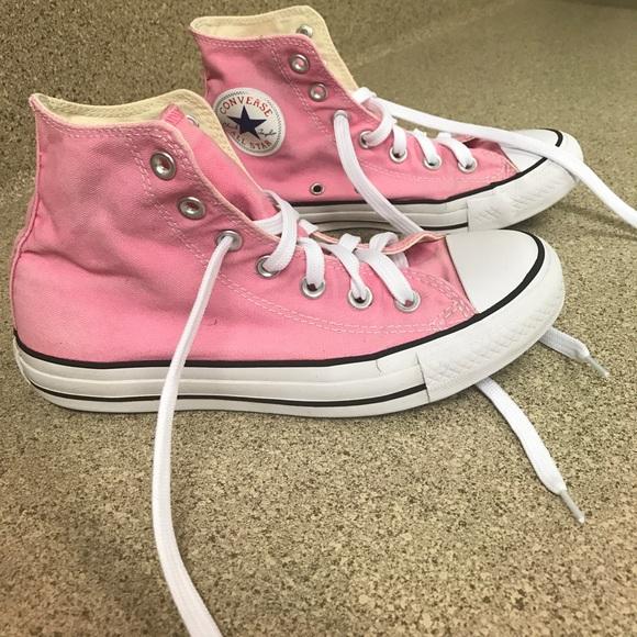 Light Pink High Top Converse Chuck