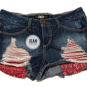 🌴Rewash Distressed Jean Shorts