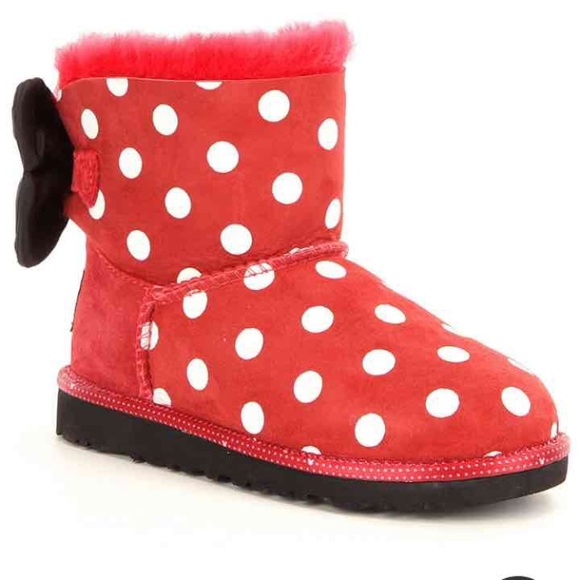 6c97dae9433 Ugg girls Disney Minnie Mouse sweetie bow