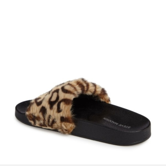 41 Off Steve Madden Shoes Steve Madden Fluffy Leopard
