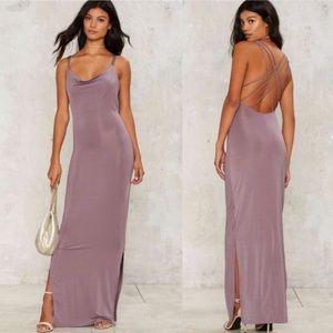 Nasty Gal Glamorous Crossback it up Maxi Dress