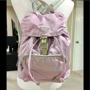 Prada Lavender Vela Nylon Backpack
