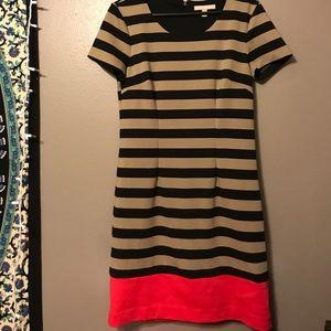 Short Sleeve Striped Banana Republic Dress