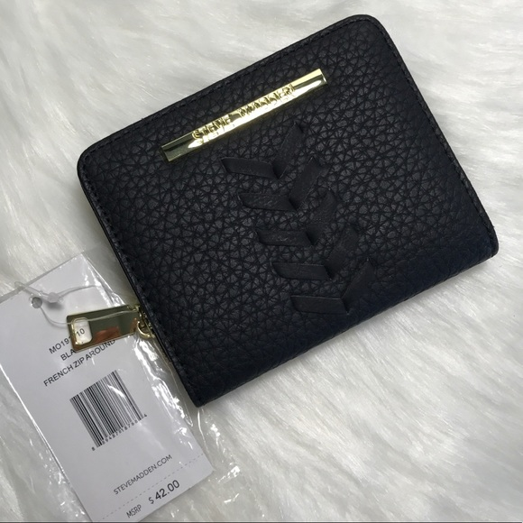 e77636a894fd STEVE MADDEN FRENCH ZIP AROUND WALLET NWT