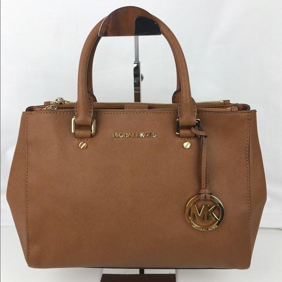 59% off Michael Kors Handbags - Michael Kors Sutton Leather Medium ...