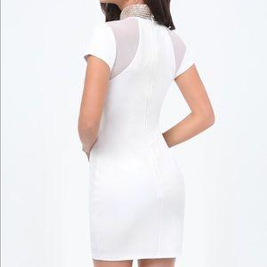 🆕Bebe embellished Neck dress