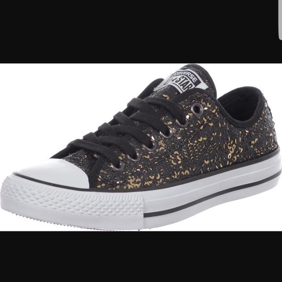 0e655541d5cc New Converse black and gold sequin all stars