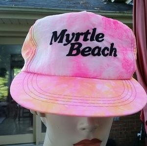 Tye Dye Myrtle Beach five panel snap back hat