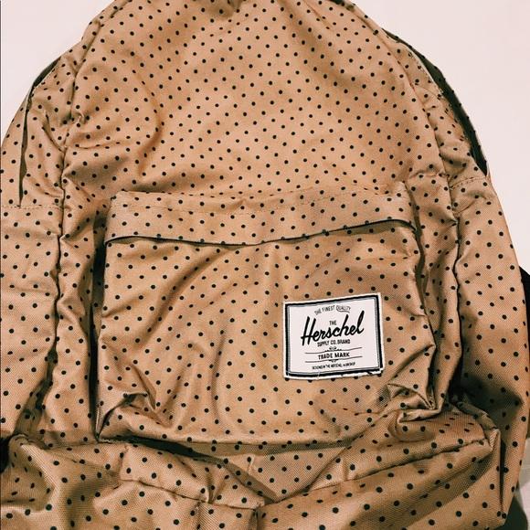 023c9eb093 Herschel Supply Company Handbags - Herschel Beige Polka Dot Backpack