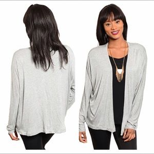 Sweaters - NEW gray open cardigan