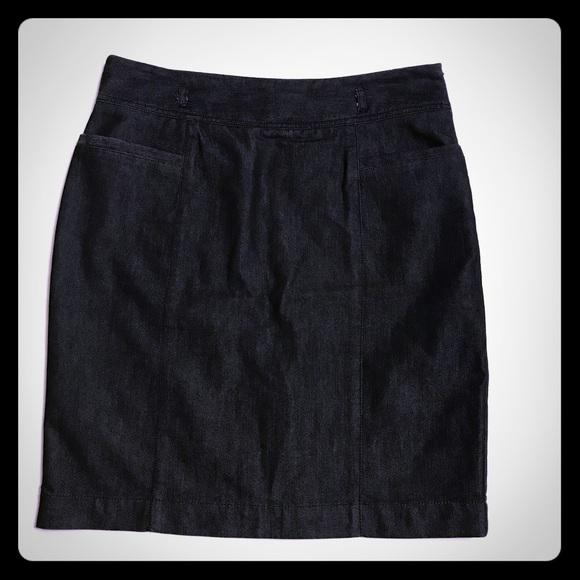 Kenneth Cole Black Denim Skirt [SK-1]