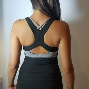 Grey and Black Lucy Workout Top XS