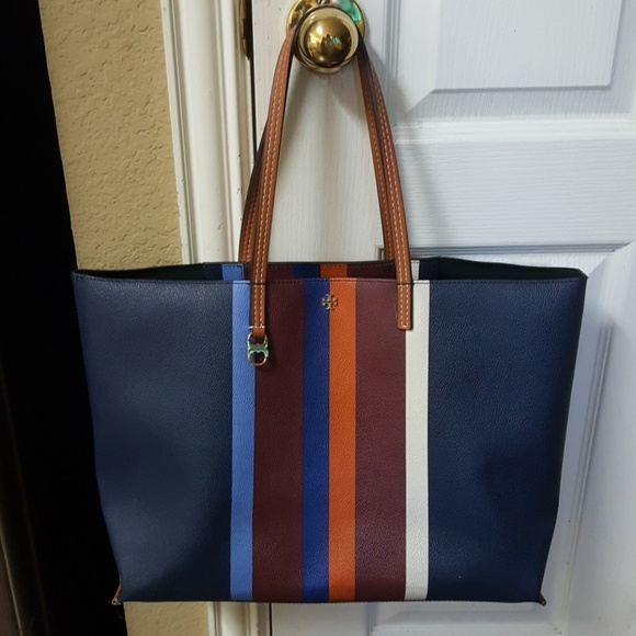 d53f4ebf910f Tory Burch striped Kensington tote. M 596765776802789c0300051f
