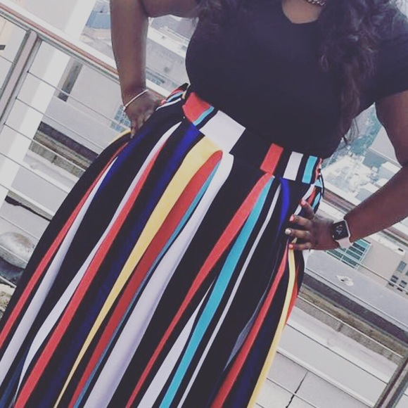 202b3aea9b Skirts | Plus Size Long Flare Skirt With Pockets | Poshmark