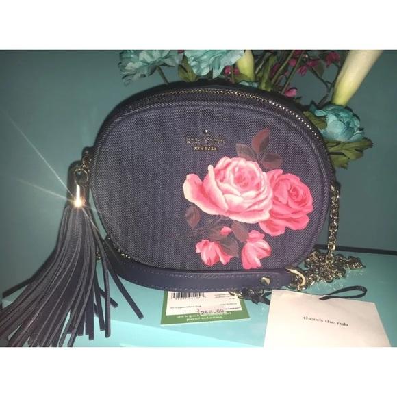 3a407d428e Kate Spade Denim 🌹Rose Tinley Crossbody Bag