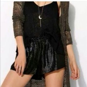 small urban outfitters black sequin shorts