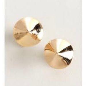 Gold spike stud earrings