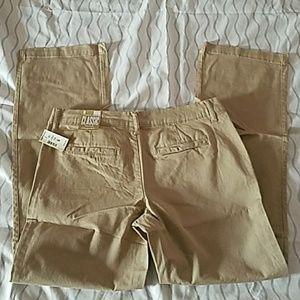 NWT Aeorpostale Beige Classic Twill Uniform Pants