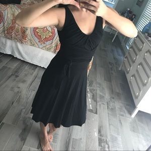 Black wrapped dress