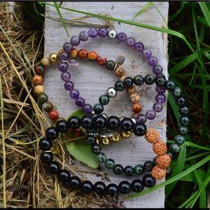 Beautiful semi precious stone bracelets