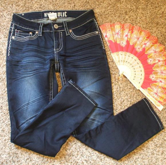 525cbdefc32 Hydraulic Denim - Embellished Crop Ankle Skinny Jeans