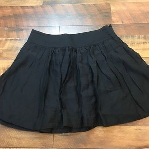 Express Chiffon Pleated A Line Skirt with Pockets