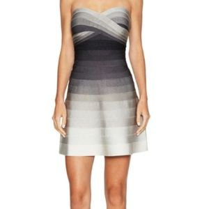 Herve Leger Strapless ombré flared dress!