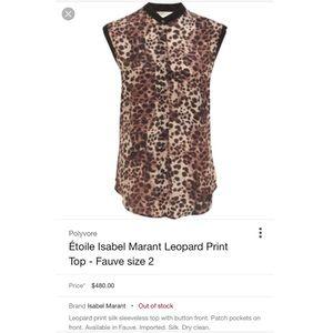 Isabel Marant Tops - Étoile Isabel Marant Leopard Print Top