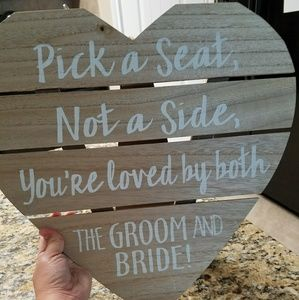 Hobby Lobby Other Wedding Decor Wooden Heart Sign For Guests