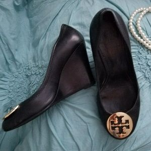 Tory Burch Leather Wedge