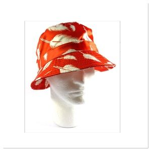 Orange Feather Bucket Hat