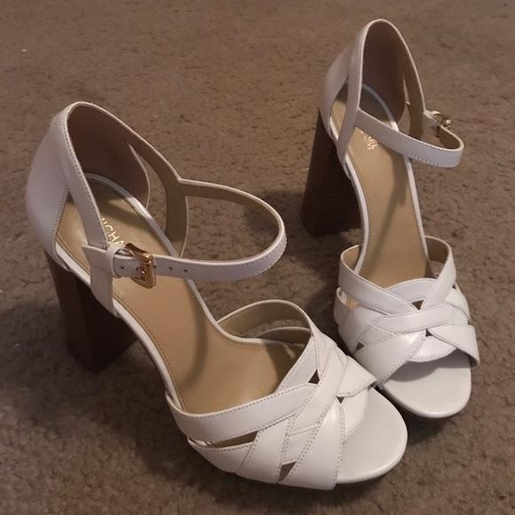 Michael Kors Shoes Annaliese Leather Platform Sandal