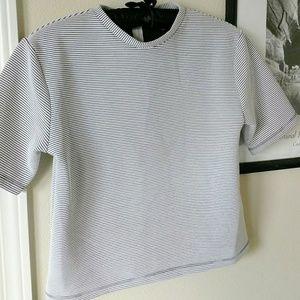 🎀Topshop Crop Top Short Sleeve w/ Zipper