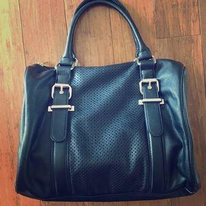 Express Black Satchel Bag