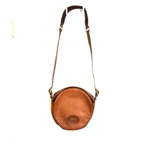 Canteen Style Leather Crossbody