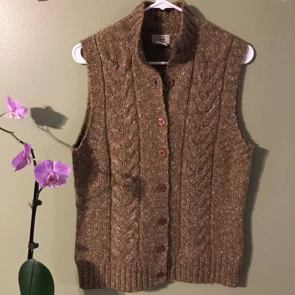 Ll Bean Sweaters Llbean Cable Knit Sleeveless Sweater Vest