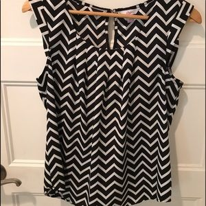Candies chevron blouse top M