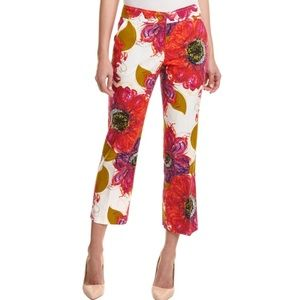 - Trina Turk - Lutton Flower Print Crop Pants