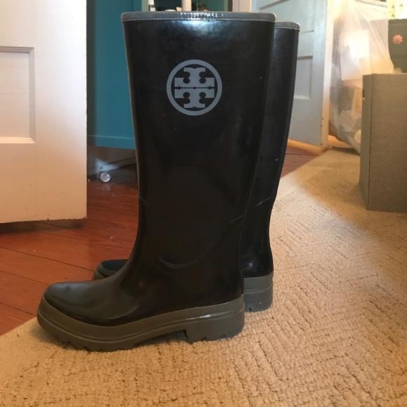 c031af6cef6 Tory Burch rain boots size 8. M 5967ac1cf09282c65f00eeb2